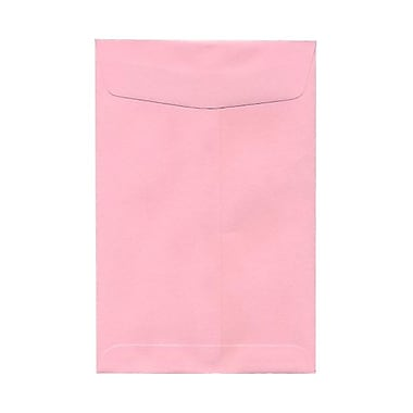 JAM Paper® 6 x 9 Open End Catalog Envelopes, Baby Pink, 100/pack (51285797)