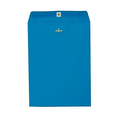 JAM Paper® 9 x 12 Open End Catalog Envelopes with Clasp Closure, Brite Hue Blue, 100/Pack (73821)