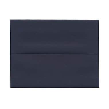 JAM Paper® A2 Invitation Envelopes, 4.38 x 5.75, Navy Blue, 100/Pack (LEBA617g)