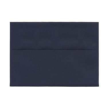 JAM Paper A7 Invitation Envelopes, 5.25 x 7.25, Navy Blue, 100/Pack (LEBA717g)
