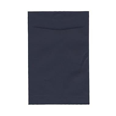 JAM PaperMD – Enveloppes à ouverture au sommet et à fermeture gommée, 6 x 9 po, bleu marine, 100/pqt