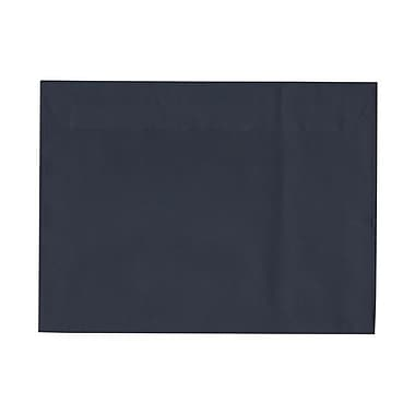 JAM Paper® 9 1/2 x 12 5/8 Booklet Envelopes, Navy Blue Linen, 1000/carton (900951678B)