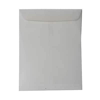 JAM Paper® 10 x 13 Open End Catalog Envelopes, Clear Translucent Vellum, 100/pack (02851379B)