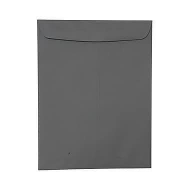 JAM Paper® 9 x 12 Open End Catalog Envelopes, Dark Grey, 100/pack (21285783)
