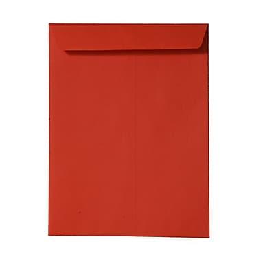 JAM PaperMD – Enveloppes ouvertes pour catalogue en papier texturé, 9 x 12 po, orange, 100/boîte