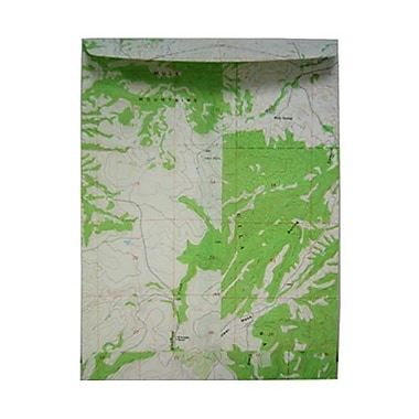 JAM Paper® Open End Map Envelopes with Gum Closure, 9