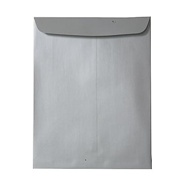 JAM Paper® 10 x 13 Open End Catalog Envelopes, Stardream Metallic Silver, 100/pack (V018324)
