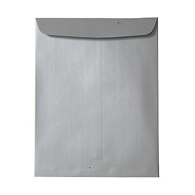 JAM Paper® 10 x 13 Open End Catalog Envelopes, Stardream Metallic Silver, 100/pack (V018324)