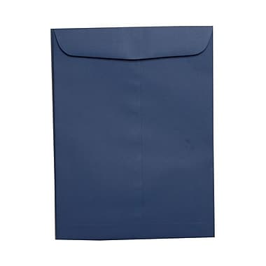 JAM Paper® 9 x 12 Open End Catalog Envelopes. Presidential Blue, 50/Pack (263917110g)