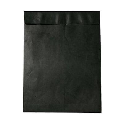 JAM Paper® 10 x 13 Tyvek Envelopes, Catalog Open End with Self Adhesive Closure, Black, 25/pack (V021376)