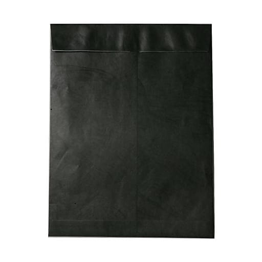 JAM Paper® 10 x 13 Tyvek Tear-Proof Open End Catalog Envelopes, Black, 25/Pack (V021376)