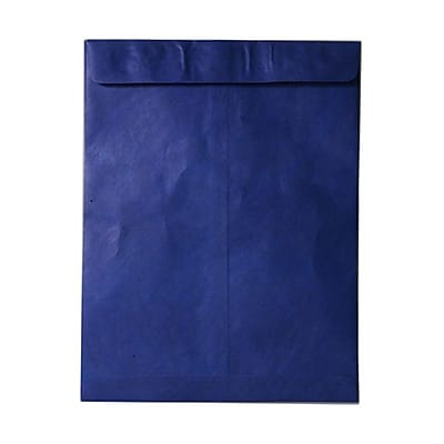 JAM Paper® 10 x 13 Tyvek Envelopes, Catalog Open End with Self Adhesive Closure, Blue, 25/pack (V021377)