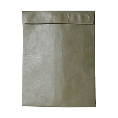 JAM Paper® 10 x 13 Tyvek Envelopes, Catalog Open End with Self Adhesive Closure, Gold, 100/Pack (v021378g)