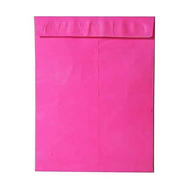 JAM Paper® 10 x 13 Tyvek Envelopes, Catalog Open End with Self Adhesive Closure, Hot Pink, 25/pack (V021380)