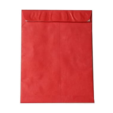 JAM Paper® 10 x 13 Tyvek Envelopes, Catalog Open End with Self Adhesive Closure, Red, 100/Pack (v021383g)