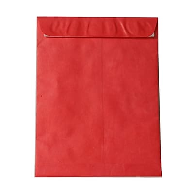 JAM Paper® 11.5 x 14.5 Tyvek Envelopes, Open End Catalog with Self Adhesive Closure, Red, 25/pack (V021388)
