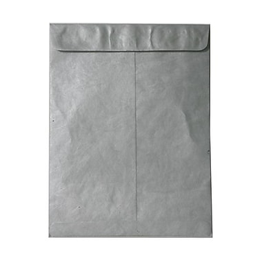 JAM Paper® 10 x 13 Tyvek Envelopes, Catalog Open End with Self Adhesive Closure, Silver, 100/Pack (v021384g)