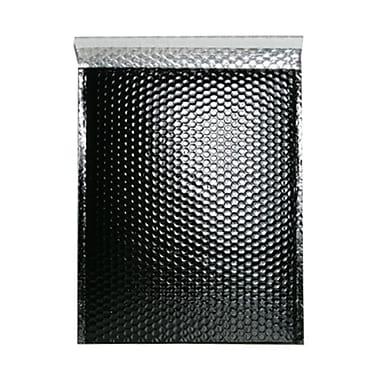 Jam PaperMD – Enveloppes à bulles métalliques avec bande adhésive, 12 x 15 1/2 po, noir, 12/pqt