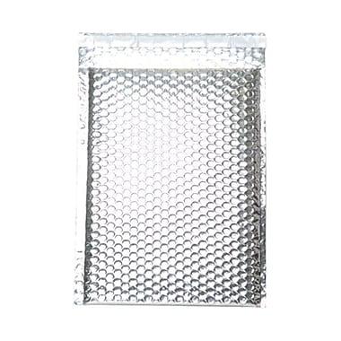 Jam PaperMD – Enveloppes à bulles métalliques avec bande adhésive, 9 x 12 po, argenté, 12/pqt
