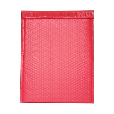 JAM Paper® Bubble Mailers with Peel and Seal Closure, 12 x 15.5, Red Matte, 12/Pack (31406017)
