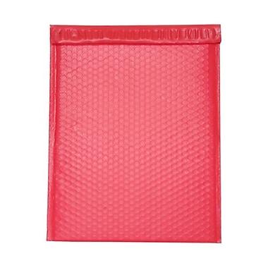 Jam PaperMD – Enveloppes mattes à bulles métalliques avec bande adhésive, 12 x 15 1/2 po, rouge mat, 12/pqt