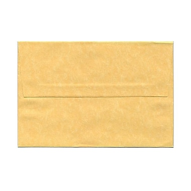 JAM Paper® A8 Invitation Envelopes, 5.5 x 8.125, Parchment Antique Gold Yellow Recycled, 100/Pack (16009g)