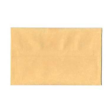 JAM Paper® A10 Invitation Envelopes, 6 x 9.5, Parchment Antique Gold Yellow Recycled, 1000/Pack (12514B)