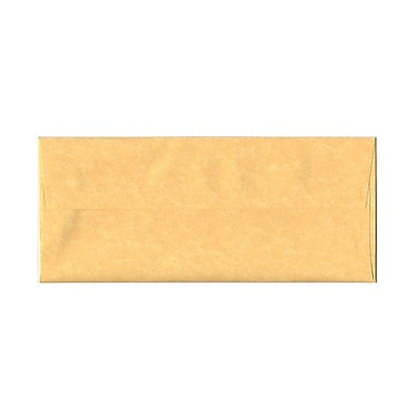 JAM Paper® #10 Business Envelopes, 4 1/8 x 9.5, Parchment Antique Gold Yellow Recycled, 100/Pack (900906635g)