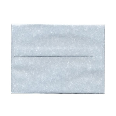 JAM Paper® A6 Invitation Envelopes, 4.75 x 6.5, Parchment Blue Recycled, 100/Pack (10296g)