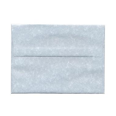 JAM PaperMD – Enveloppes en papier-parchemin recyclé avec fermeture gommée, 4 3/4 x 6 1/2 po, bleu, 100/paquet