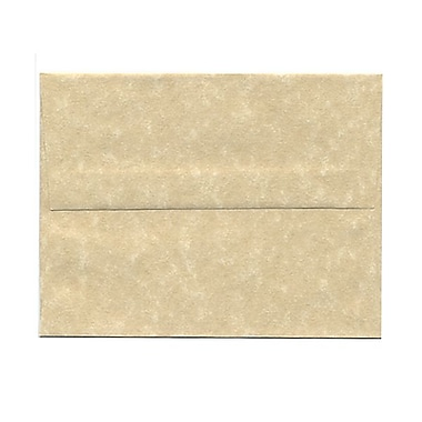 JAM Paper® A2 Invitation Envelopes, 4 3/8 x 5 3/4, Parchment Brown Recycled, 25/pack (53447)