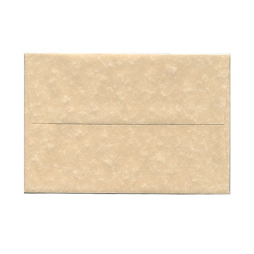 JAM Paper® A8 Parchment Invitation Envelopes, 5.5 x 8.125, Brown Recycled, 25/Pack (52066)