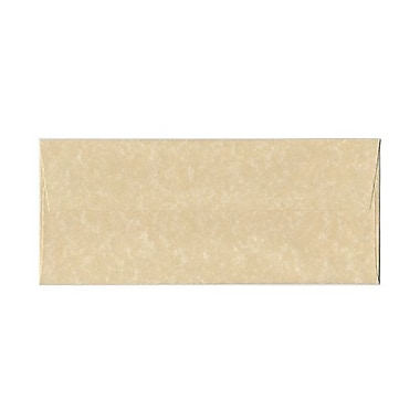 JAM Paper® #10 Business Envelopes, 4 1/8 x 9.5, Parchment Brown Recycled, 100/Pack (v01722g)