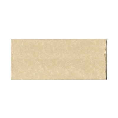 JAM Paper® #10 Business Envelopes, 4 1/8 x 9 1/2, Parchment Brown Recycled, 25/pack (V01722)