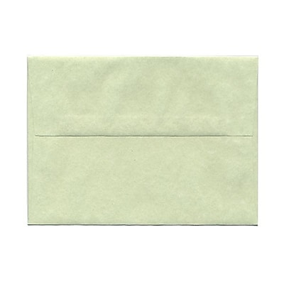 JAM Paper® A7 Invitation Envelopes, 5.25 x 7.25, Parchment Green Recycled, 25/pack (519)