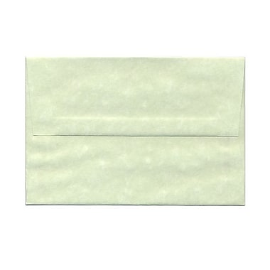 JAM Paper® A8 Invitation Envelopes, 5.5 x 8.125, Parchment Green, 100/Pack (66053g)