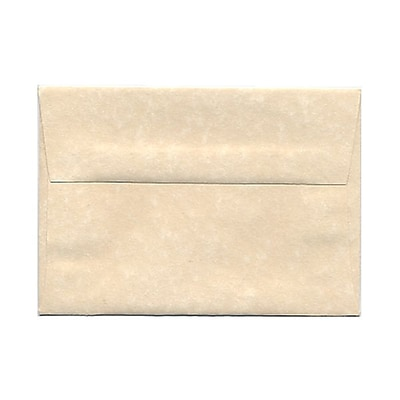 JAM Paper® 4bar A1 Envelopes, 3 5/8 x 5 1/8, Parchment Natural Recycled, 25/pack (900795107)