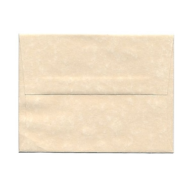 JAM Paper® A2 Invitation Envelopes, 4 3/8 x 5 3/4, Parchment Natural Recycled, 1000/carton (34777B)