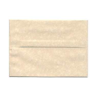JAM Paper® A7 Invitation Envelopes, 5.25 x 7.25, Parchment Natural Recycled, 100/Pack (35394g)