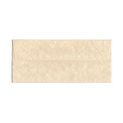 JAM Paper® #10 Business Envelopes, 4 1/8 x 9 1/2, Parchment Natural Recycled, 25/pack (900926651)