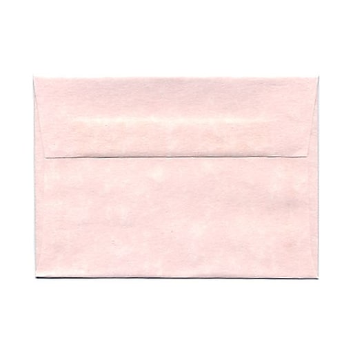JAM Paper® 4Bar A1 Parchment Invitation Envelopes, 3.625 x 5.125, Pink Recycled, 25/Pack (123456)