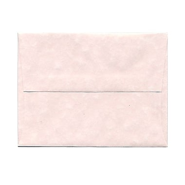 JAM Paper® A2 Invitation Envelopes, 4 3/8 x 5 3/4, Parchment Pink Recycled, 25/pack (97800)