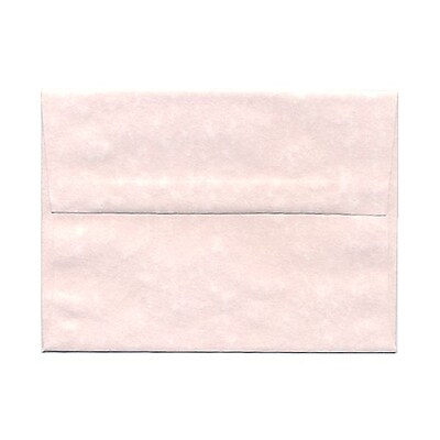 JAM Paper® A6 Invitation Envelopes, 4.75 x 6.5, Parchment Pink Recycled, 25/pack (97818)