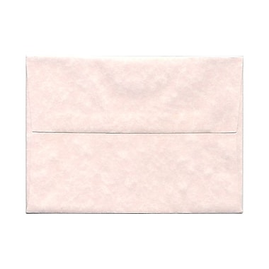 JAM Paper® A7 Invitation Envelopes, 5.25 x 7.25, Parchment Pink Recycled, 100/Pack (97834g)