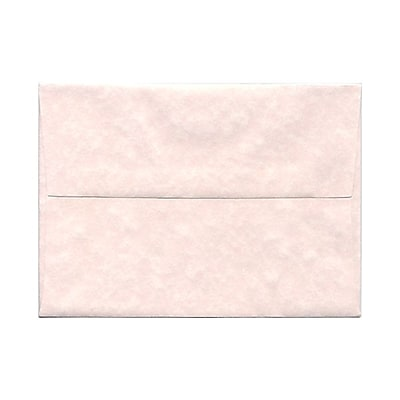 JAM Paper® A7 Invitation Envelopes, 5.25 x 7.25, Parchment Pink Recycled, 25/pack (97834)