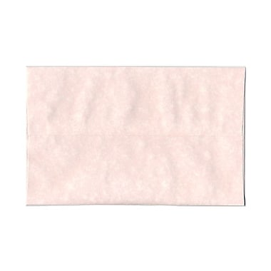 JAM Paper® A10 Invitation Envelopes, 6 x 9.5, Parchment Pink Recycled, 100/Pack (97859g)