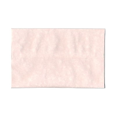 JAM Paper® A10 Invitation Envelopes, 6 x 9.5, Parchment Pink Recycled, 25/pack (97859)