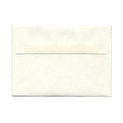 JAM Paper® 4bar A1 Envelopes, 3 5/8 x 5 1/8, Parchment White Recycled, 25/pack (900926656)