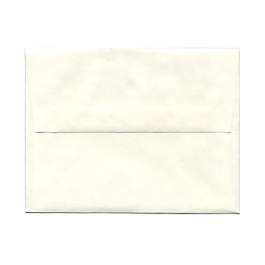 JAM Paper® A2 Invitation Envelopes, 4.38 x 5.75, Parchment White Recycled, 100/Pack (12664g)
