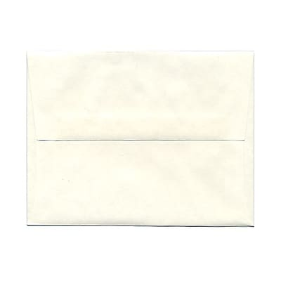 JAM Paper® A2 Invitation Envelopes, 4 3/8 x 5 3/4, Parchment White Recycled, 25/pack (12664)